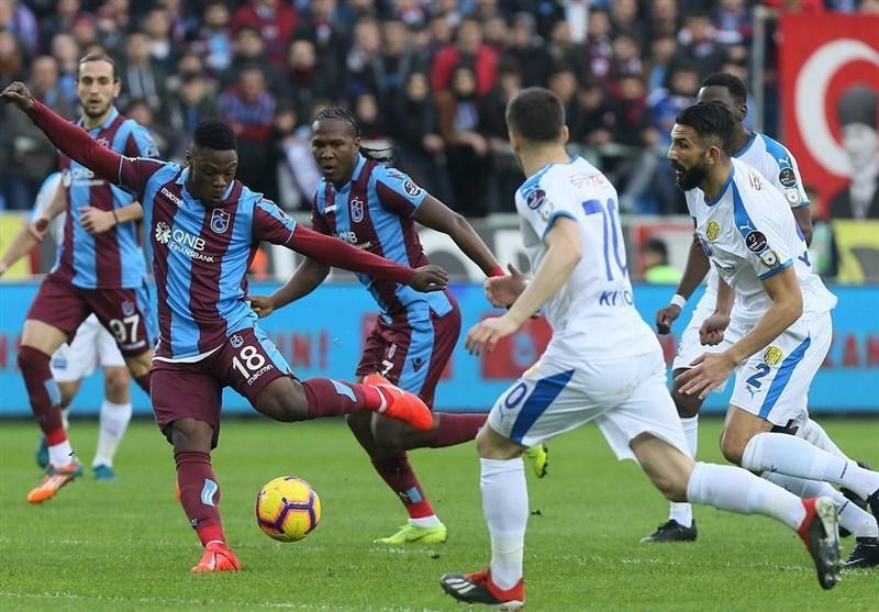 سوپر لیگ ترکیه، پیروزی ترابزون اسپور با بازی 6 دقیقه ای وحید امیری