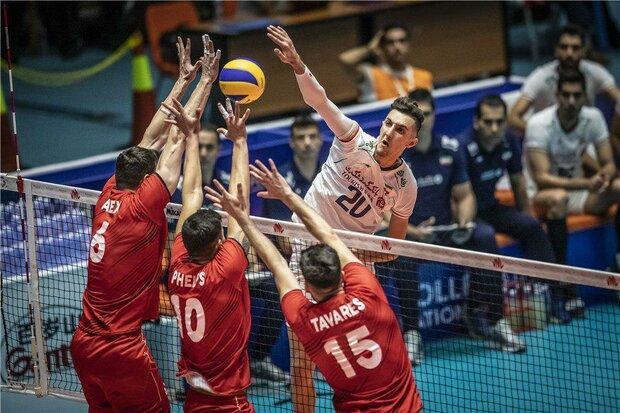 ایران 3 - پرتغال یک، تیم ملی والیبال صدرنشین باقی ماند