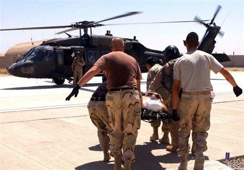 گزارش فرماندهی تروریست های آمریکایی از مصدومان عین الاسد