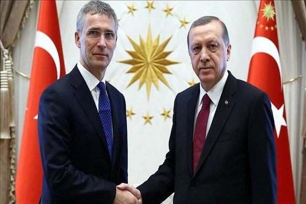 اردوغان و دبیرکل ناتو با موضوع مدیترانه شرقی رایزنی کردند