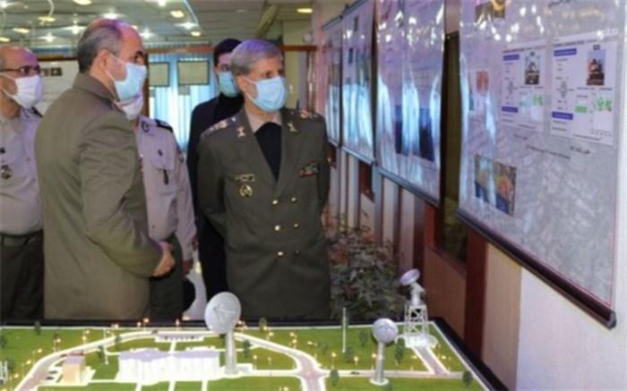 وزیر دفاع از سامانه مدیریت اطلاعات مکانی رونمایی کرد