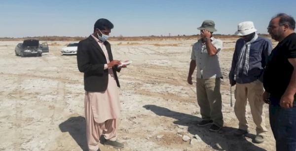 شروع عملیات معین عرصه و حریم باغ نیل در جلگه چاه هاشم دلگان