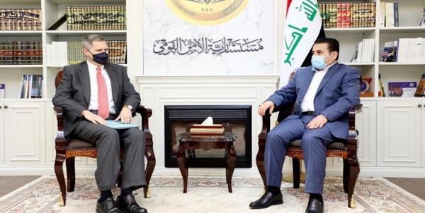 ایران و تحولات منطقه، محور ملاقات سفیر آمریکا با مشاور امنیت ملی عراق