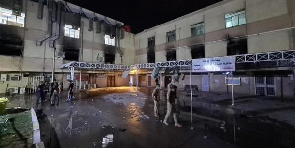 حقوق بشر عراق: 130 نفر در آتش سوزی بیمارستان ابن الخطیب جان باختند