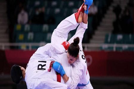 کاراته المپیک ؛ فزونی عباسعلی در سومین مسابقه