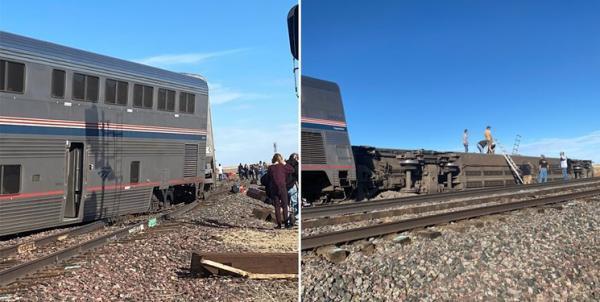 خروج قطار از ریل در مونتانا آمریکا با 3 کشته و ده ها مجروح